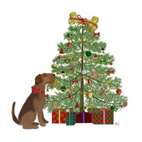 Christmas Des - Bone Tree Fine Art Print