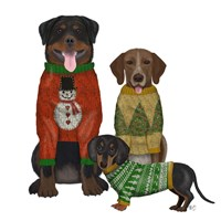 Christmas Des - Ugly Christmas Sweater Competition Fine Art Print