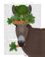 Donkey Carrot Hat Book Print Fine Art Print