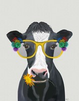Cow and Flower Glasses Fine Art Print
