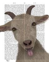 Funny Farm Goat 2 Book Print Fine Art Print