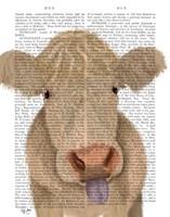 Funny Farm Cow 1 Book Print Fine Art Print