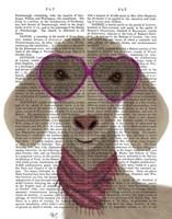Goat Heart Glasses Book Print Fine Art Print
