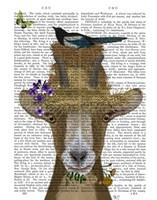 Goat In Straw Hat Book Print Fine Art Print