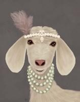 Posh White Goat Fine Art Print