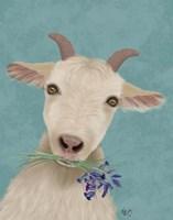 Goat and Bluebells Fine Art Print