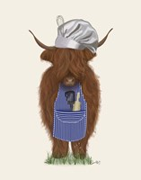 Highland Cow Chef Fine Art Print