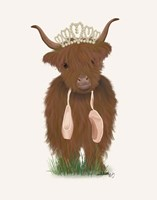 Highland Cow Ballet Fine Art Print