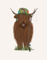 Highland Cow Fisherman Fine Art Print