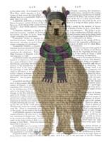 Llama with Purple Scarf, Full Book Print Fine Art Print