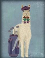 Llama Golfing Fine Art Print