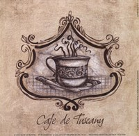 Cafe De Tuscany Fine Art Print