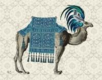 Niraj Camel, Blue Fine Art Print