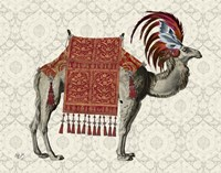 Niraj Camel, Red Fine Art Print