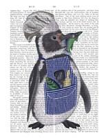 Penguin Chef Book Print Fine Art Print