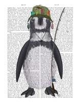 Penguin Fishing Book Print Fine Art Print