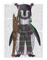 Penguin Skis Book Print Fine Art Print