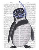 Penguin Snorkel Book Print Fine Art Print