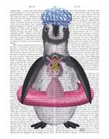 Penguin Unicorn Rubber Ring Book Print Fine Art Print