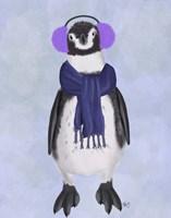 Penguin Ear Muffs Fine Art Print