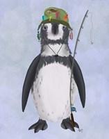 Penguin Fishing Fine Art Print