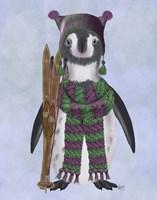 Penguin Skis Fine Art Print