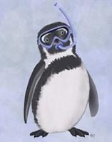 Penguin Snorkel Fine Art Print