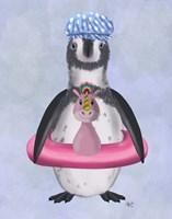Penguin Unicorn Rubber Ring Fine Art Print
