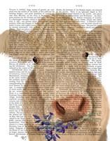 Cow Cream, Bluebells Book Print Fine Art Print