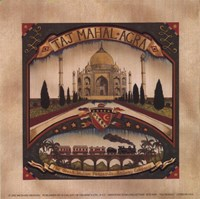 "Taj Mahal by Richard Henson - 6"" x 6"""