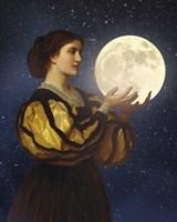 The Moon In Her Hands Fine Art Print