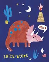 Terrific Triceratops Fine Art Print