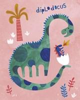 Diplodocus Duo Fine Art Print
