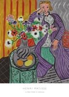 La Robe Violette et Anemones Fine Art Print