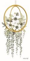 Gold Geometric Circle & Ivy Fine Art Print