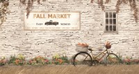 Fall Market with Bike Framed Print