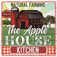The Apple House Kitchen Framed Print
