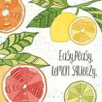 Citrus Splash III Black Text Fine Art Print