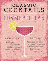 Classic Cocktails Cosmopolitan Pink Fine Art Print