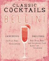Classic Cocktails Bellini Pink Fine Art Print