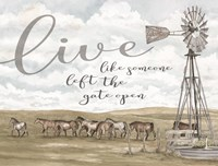 Live Like Someone? Fine Art Print