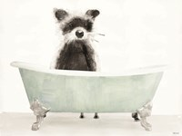 Vintage Tub with Racoon Fine Art Print