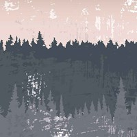 Evening Forest II Fine Art Print