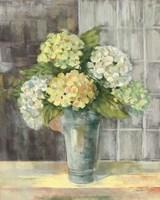 Yellow Hydrangea Gray Fine Art Print