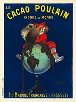 Le Cacao Poulain Inonde le Monde, 1911 Fine Art Print