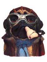 Aviator Pug Fine Art Print