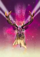 Cosmic Stag Fine Art Print