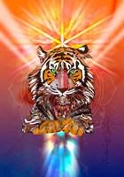 Cosmic Tiger Fine Art Print