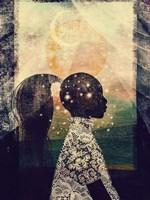 The Sun, Stars and Moon Fine Art Print