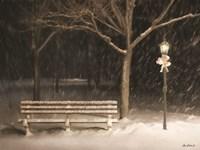 Snowy Bench Fine Art Print